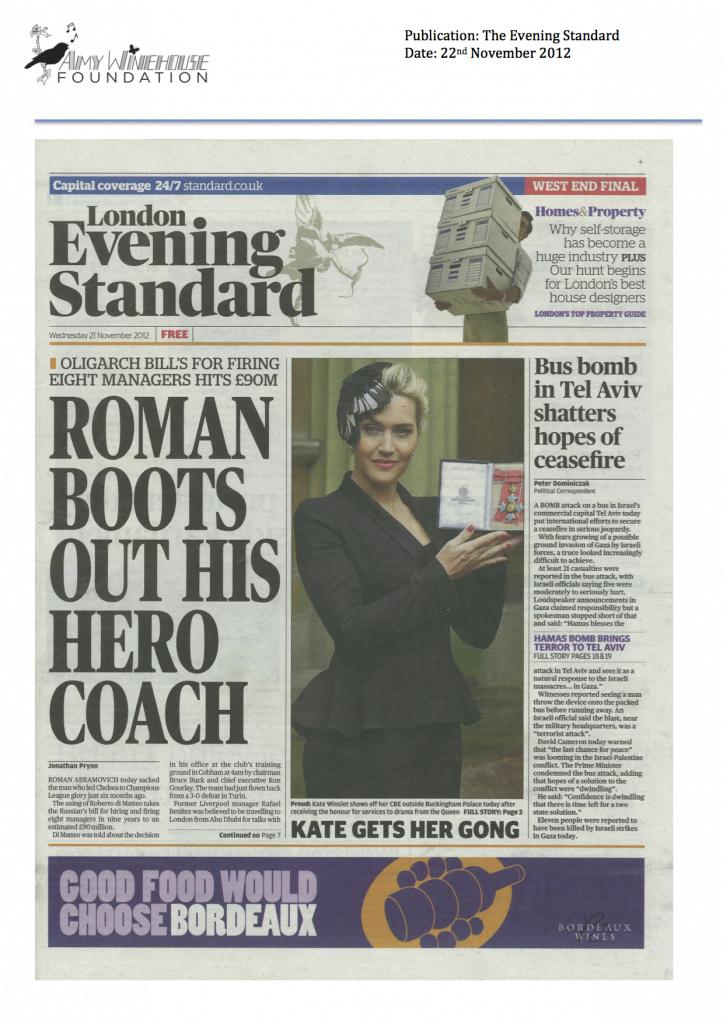 Evening Standard 22.11.12.1